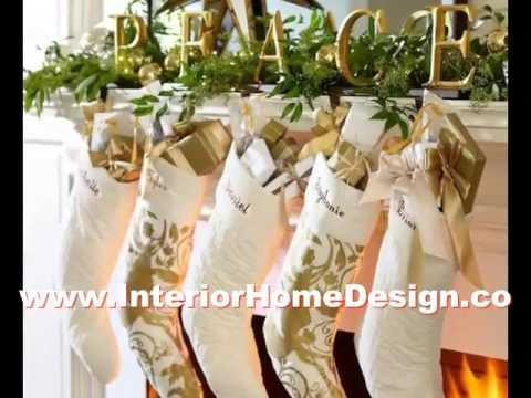 Best Color Paint Ideas White And Gold Christmas Decorations - YouTube