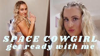 GRWM SPACE COWGIRL | MAKEUP, HAIR, & COSTUME | HALLOWEEN PARTY EDITION