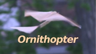 Ornithopter - Rubber Band Wing Flapping Flying Machine