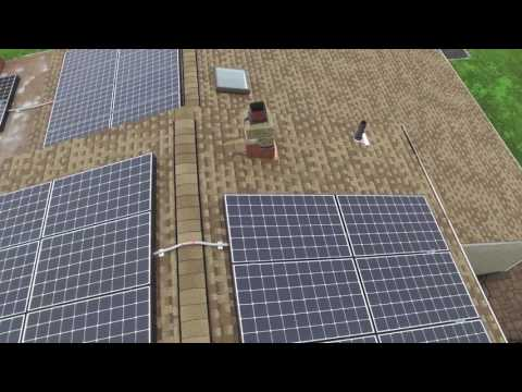 DRONE VIDEO OF NEW GAF SHAKEWOOD ROOF AND SOLAR PANELS IN FARMINGVILLE