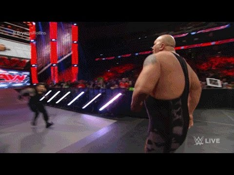 wwe roman reigns spears big show raw feb 2 2015 youtube