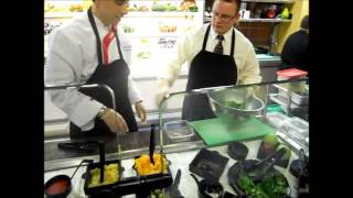 Chef David And Rich Prepare Arugula Fig Salad