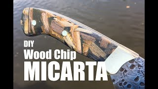 How to Easily make Wood Chip Micarta Hybrid Knife handles or Scales