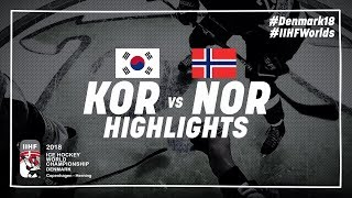 Game Highlights: Korea vs Norway May 14 2018 | #IIHFWorlds 2018