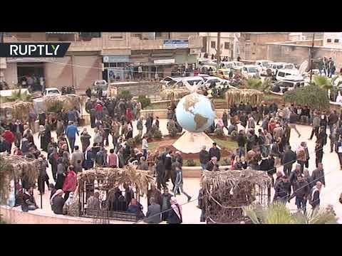 مظاهرات تأييد لبشار الأسد وسط عفرين  - نشر قبل 14 دقيقة