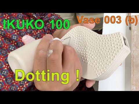 "『 IKUKO 100 』vase No.3 (b) ""Dotting"""