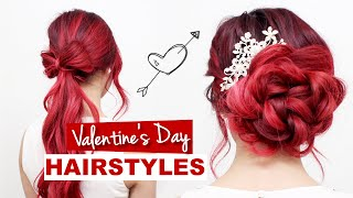 Valentine's Day Hairstyles Tutorial l Formal Hairstyles for Prom, Weddings, & Special Events
