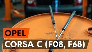 Hvordan udskiftes bagklapsdæmper / gasdæmper bagklap on OPEL CORSA C (F08, F68) [GUIDE AUTODOC]