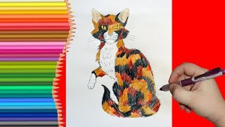 Как нарисовать Пестролистую, Коты Воители