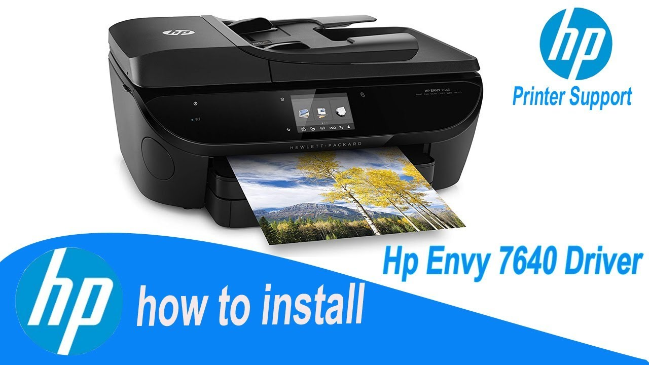 Hp Envy 7640 Driver Full Installation Guide Youtube