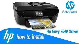 Hp Envy 7640 Driver, Full installation guide