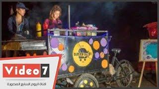 أول فيديو مع فتيات عربة البورجر بعد عودتهن للعمل: السيسي رجعلنا كرامتنا