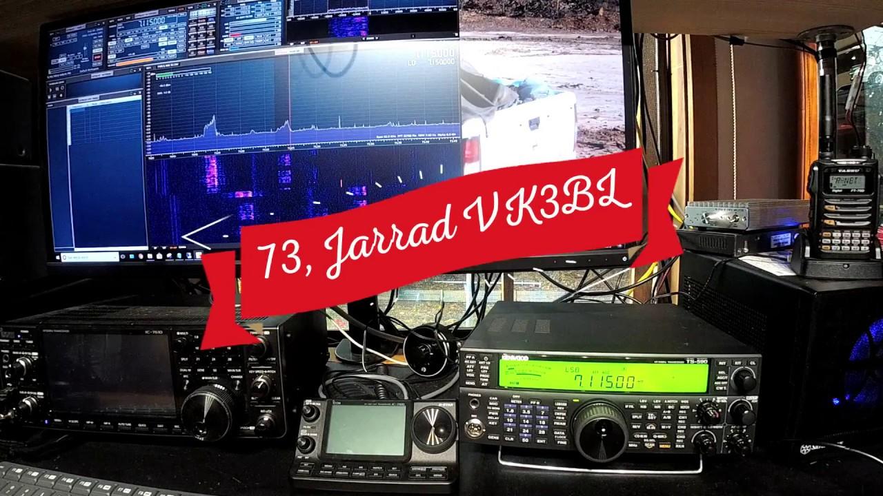 Kenwood TS-590SG Panadaptor SDRPlay RSP2 - YouTube