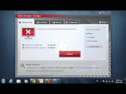 Video Respuesta [Desactivar temporalmente Microsoft Security Essentials]