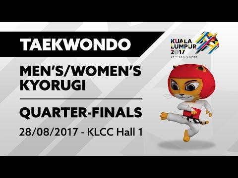 KL2017 29th SEA Games | Taekwondo - Men's/Women's Kyorugi QUARTER-FINALS | 28/08/2017