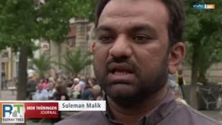Erfurt, Germany: Ahmadiyya spokesperson Suleman Malik attacked