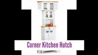 Beautiful Corner Kitchen Hutch