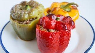 cómo hacer pimientos rellenos de carne súper fáciles