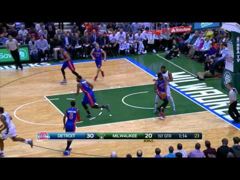 Greg Monroe Full Game Highlight VS Detroit Pistons (10Points,7Rebounds,3Assists)