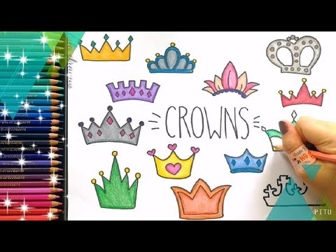 Cute Drawing : HOW TO DRAW PRINCESS CROWN Easy Step, King Crown Drawing Ideas And Coloring Forkids