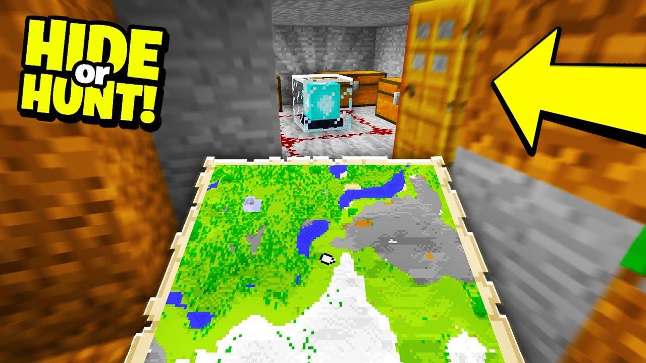 Download Finding a TREASURE MAP to SECRET BASE! - Hide Or Hunt #3
