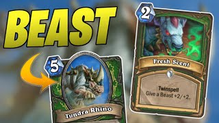 BEST DECK for new card FRESH SCENT | Beast Hunter | Descent of Dragons | Wild Hearthstone
