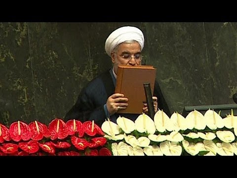 New president of Iran, Hassan Rohani, takes oath of office