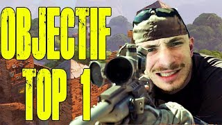 OBJECTIF TOP 1 SUR FORTNITE EN BATTLE ROYALE !!!