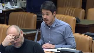 Segundo González en la  Comisión de Fomento el 22 de marzo