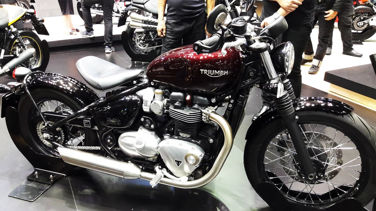 triumph bonneville bobber morello red - youtube