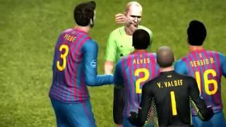 Pes 2012 Barcelona vs Real Madrid Champions League