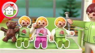 Playmobil Film - Mia, Paul und Alex beim Impfen - Familie Hauser Spielzeug Kinderfilm