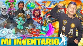 I TEACH YOU MY INVENTORY!!! SKINS, BAILES, MOCHILAS, PICOS, ALA DELTAS... In Fortnite