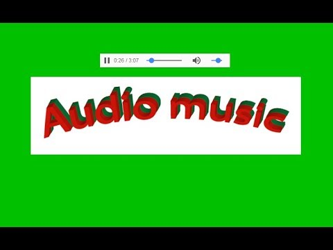 How to add audio player in website  html with notepad