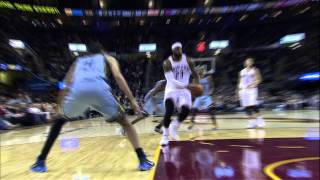 LeBron James Rattles the Rim with the One-Handed Jam