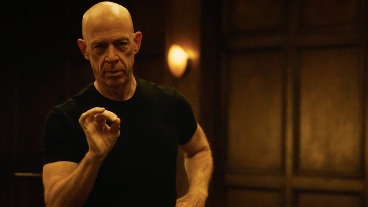 Terence Fletcher (J.K Simmons) conducting an intense jazz session in the film Whiplash.