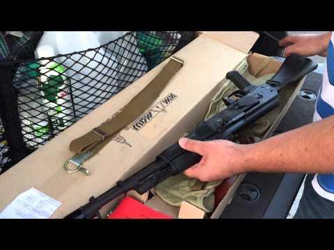 АК-74М СХП (хотя заказан был АКМ). Распаковка посылки.