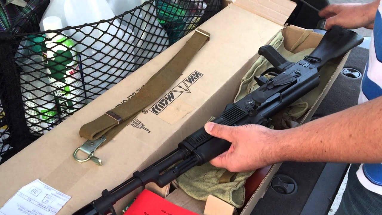 АК-74М СХП (хотя заказан был АКМ). Распаковка посылки ...