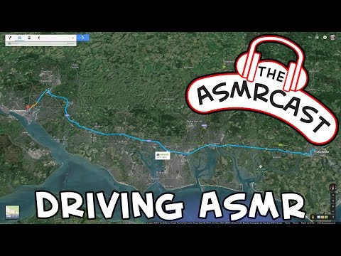 ASMR [Binaural 3D] Driving Experience - Chichester To Southampton (Whispering. Ear To Ear)