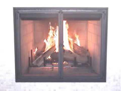 Hand forged custom firescreen doors, see firescreen makeover!