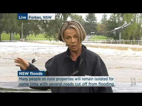 100 homes flooded in Forbes   ABC News Australian Broadcasting Corporation