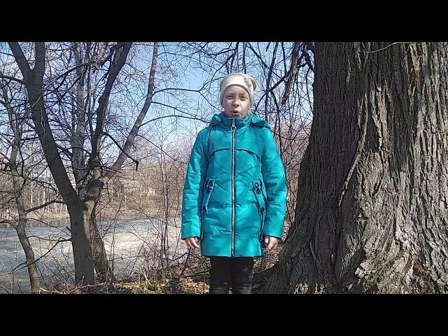 Изображение предпросмотра прочтения – ЮлияСоколова читает произведение «Весна( Зима не даром злится!)» Ф.И.Тютчева