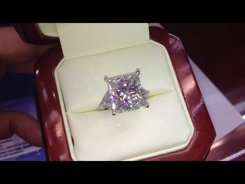 Big Princess Cut Diamond Engagement Ring G SI1 8 carat