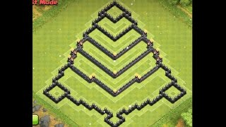 Epic Town Hall 8 (th8) Farming Base (christmas Tree Design) - Clash Of Clans [awesome Design]