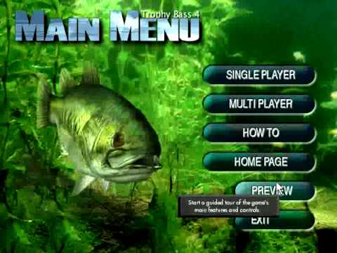 Trophy bass 4 fishing game demo sierra on line field for Fishing computer game