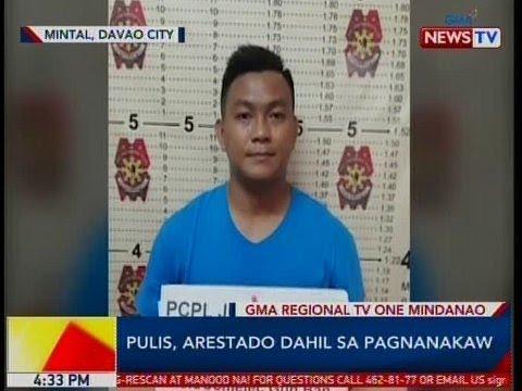 BP: Pulis, arestado sa Mintal, Davao City dahil sa pagnanakaw