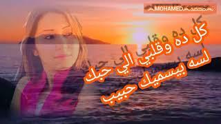 أجمل أغنية شيماء الشايب ▶️ كل ده وقلبي الي حبك 🔴 مع كلمات