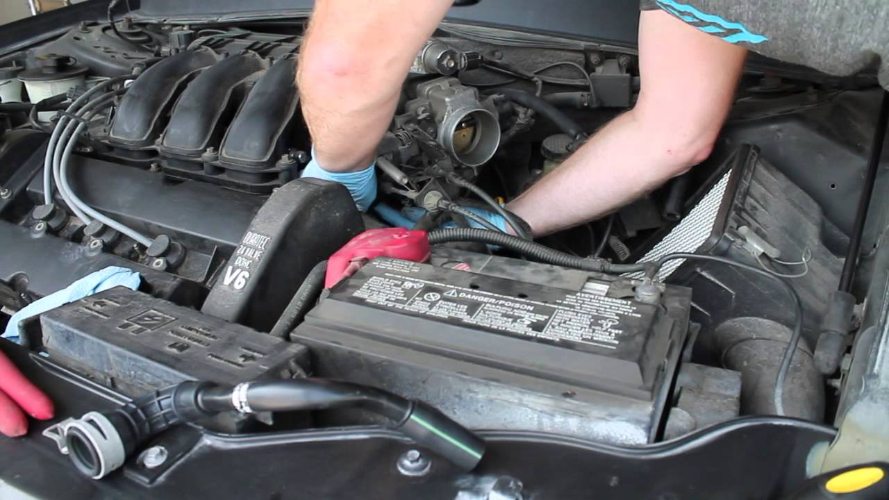 2002 Taurus Pcv Vacuum Hose Replacement Youtube