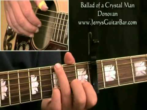 How To Play Donovan Ballad of a Crystal Man (intro only) - YouTube