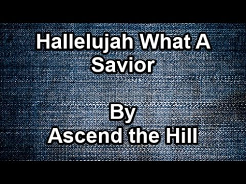 Hallelujah What A Savior - Ascend The Hill (Lyrics) - YouTube